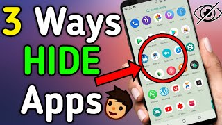 How To Hide👁 Apps On Android 2019 (No Root)। Without Root Your Phone 🤔? 3-Ways to Hide Apps Part-2
