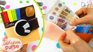 DIY Purse NO SEW for Money & Credit Card