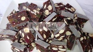 nougat au chocolat et aux fruits