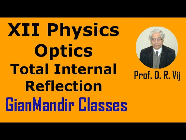 XII Physics | Optics | Total Internal Reflection by Poonam Ma'am