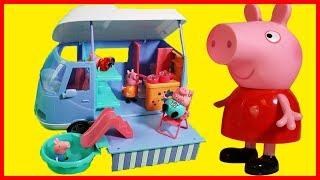 佩佩豬粉紅豬小妹可以睡覺和游泳的露營車玩具