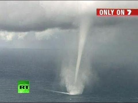 Amazing waterspout 'tornado' caught on camera off Australia