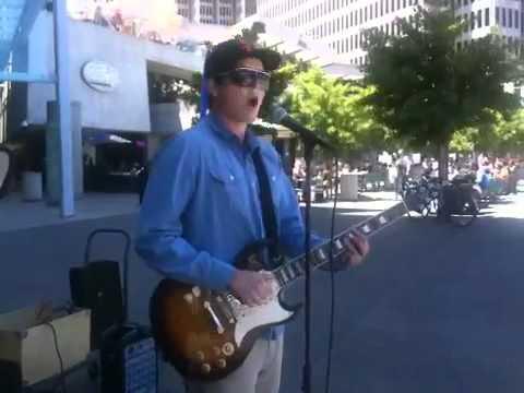 "Sam Johnson - SF Street performer singing ""Baby"""