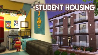 The Sims 4 | House Build (Stop Motion) | Foxbury Student Housing (No CC) | Discover University