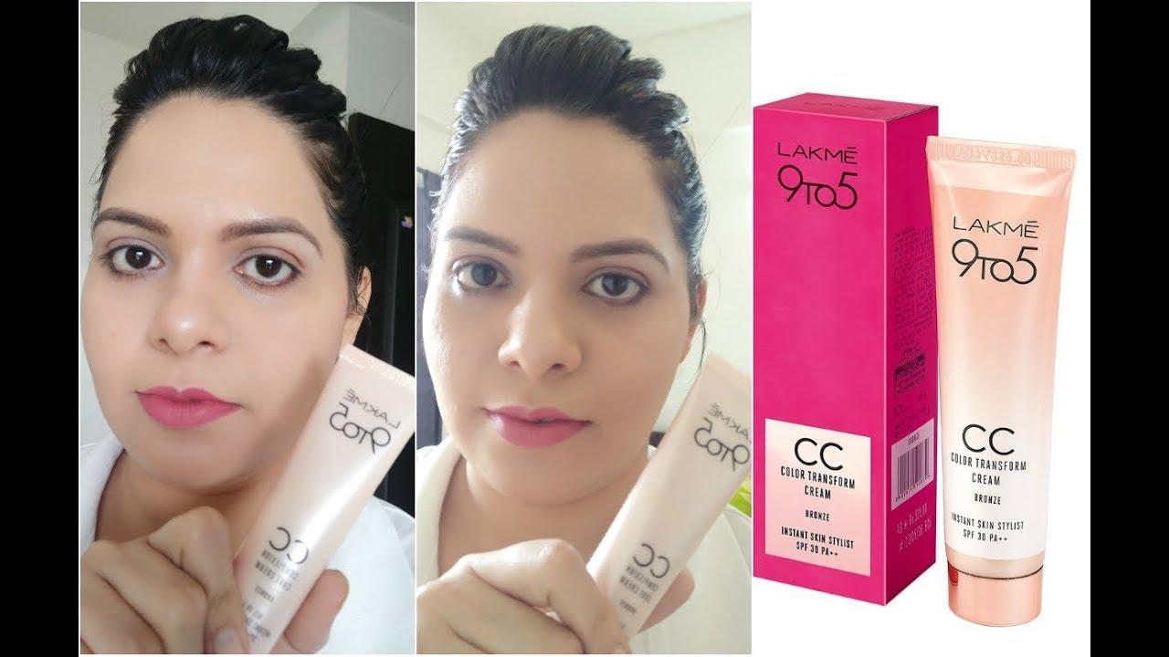 सी सी क्रीम से मेकअप|Lakme CC Cream makeup Tutorial |HOW to apply CC Cream in hindi.