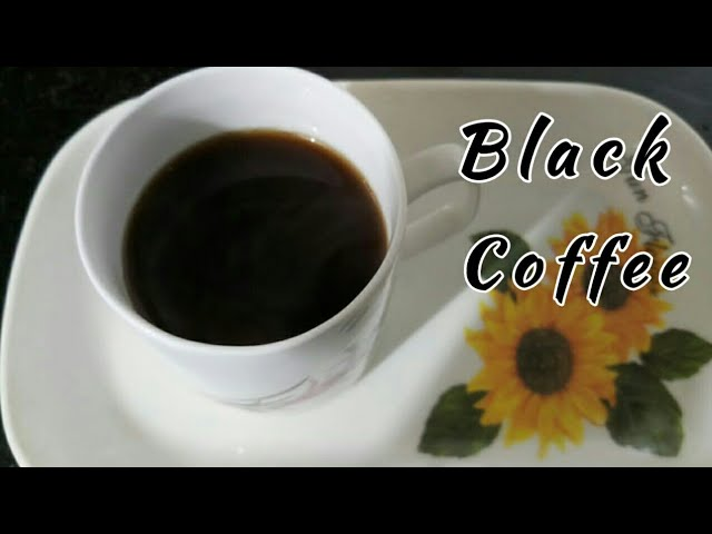 Black coffees is the best and healthiest coffee