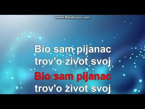 Šaban Šaulić-Bio sam pijanac KARAOKE//MIDI 2014