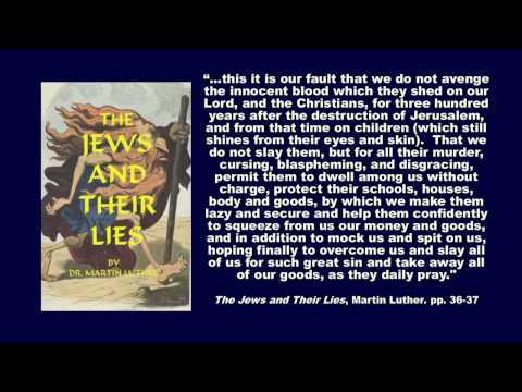 "Martin Luther  |  Did He Hate The Jews?  |  Did He Influence Hitler?  |  ""From The Horse's Mouth"""