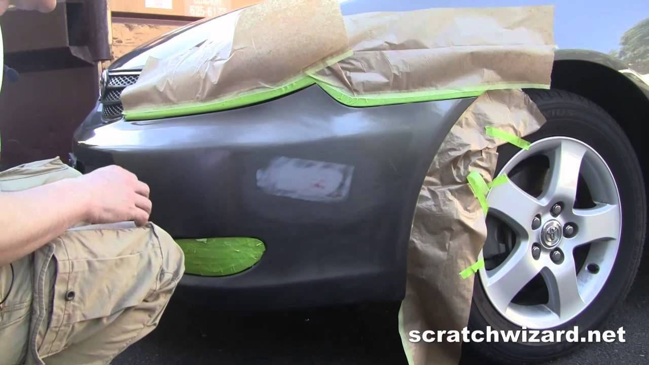 repair automotive paint scratches with spray paint youtube. Black Bedroom Furniture Sets. Home Design Ideas