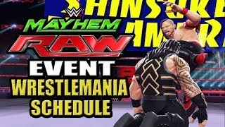 WWE Mayhem - Wrestlemania Week Event Schedule and Discussion, Raw 3 Star Event