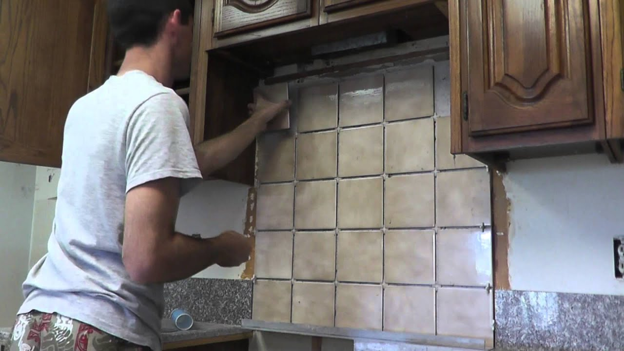 How To Install Granite Countertops On A Budget   Part 6   Backsplash    YouTube