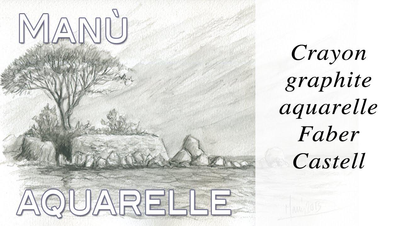 Crayon Graphite Aquarelle Faber Castell Par Manu True Painting