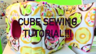 Foam Cube with Removable Pads Sewing Tutorial!