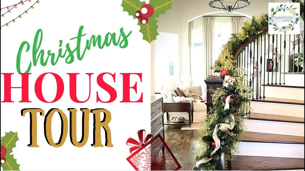 New Christmas House Tour 2018 First Ever Home Tour Youtube