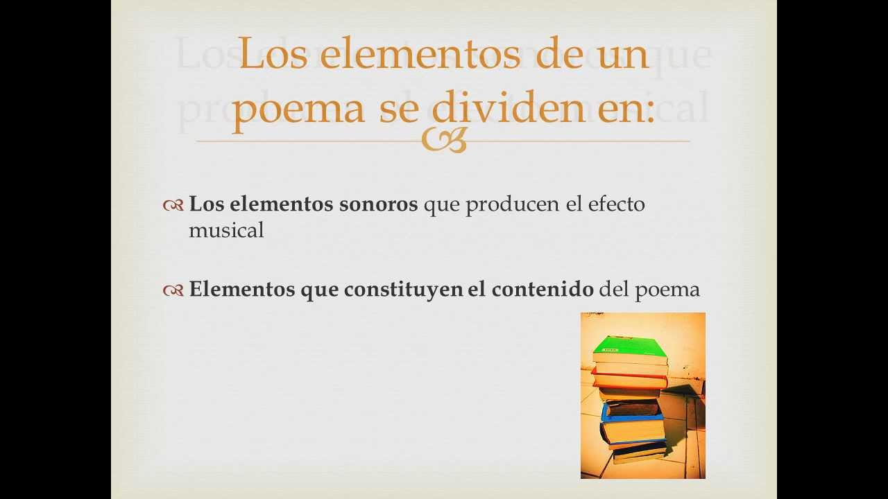 elementos de un poema youtube