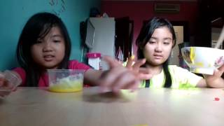 HOW TO MAKE BANANA SLIME #REICA & YUIKA