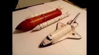 Atlantis space shuttle papercraft (Paso a Paso)