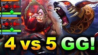 4v5 VEGA vs DD - INCREDIBLE 4 vs 5 GG! - BTS Summer CUP DOTA 2