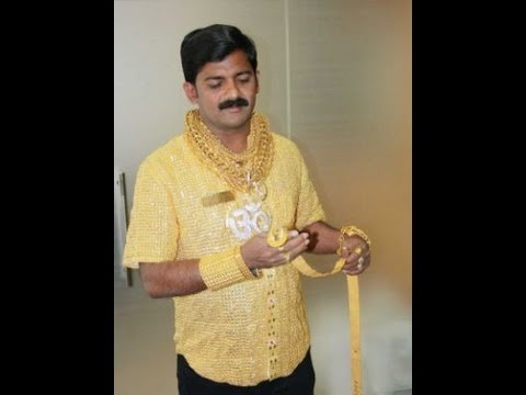 gold Indian shirt man