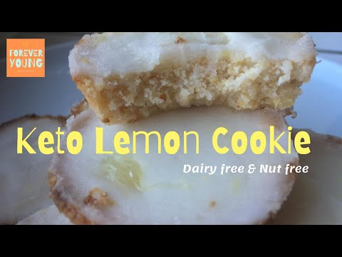 Melt in your mouth! Keto Lemon Cookies⎪Sugar free, Low Carb, Nut Free, Dairy Free, Gluten Free
