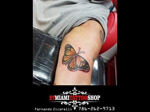 Tattooing LIVE !!!!!!!! COLOR BUTTERFLY  TATTOO