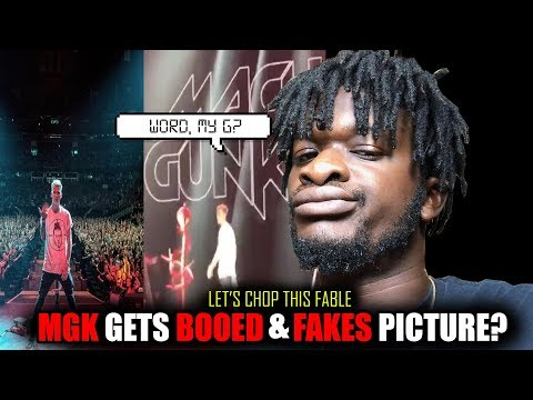 MGK Gets Booed Off Stage And Fakes Picture During Rap Devil Performance?! REACTION!