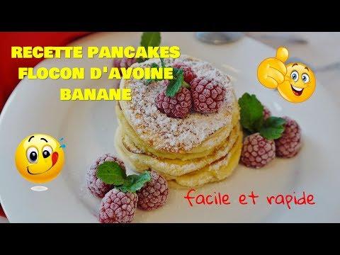 recette-pancakes-flocon-d'avoine-|-recette-pancakes-flocon-d'avoine-banane-|-flocon-d'avoine-recette