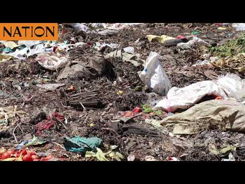 A heap of uncollected garbage at Muthurwa Market in Nairobi