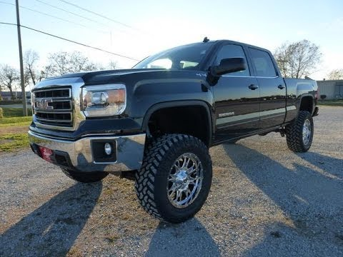 2014 lifted gmc sierra 1500 crew cab sle for sale youtube. Black Bedroom Furniture Sets. Home Design Ideas
