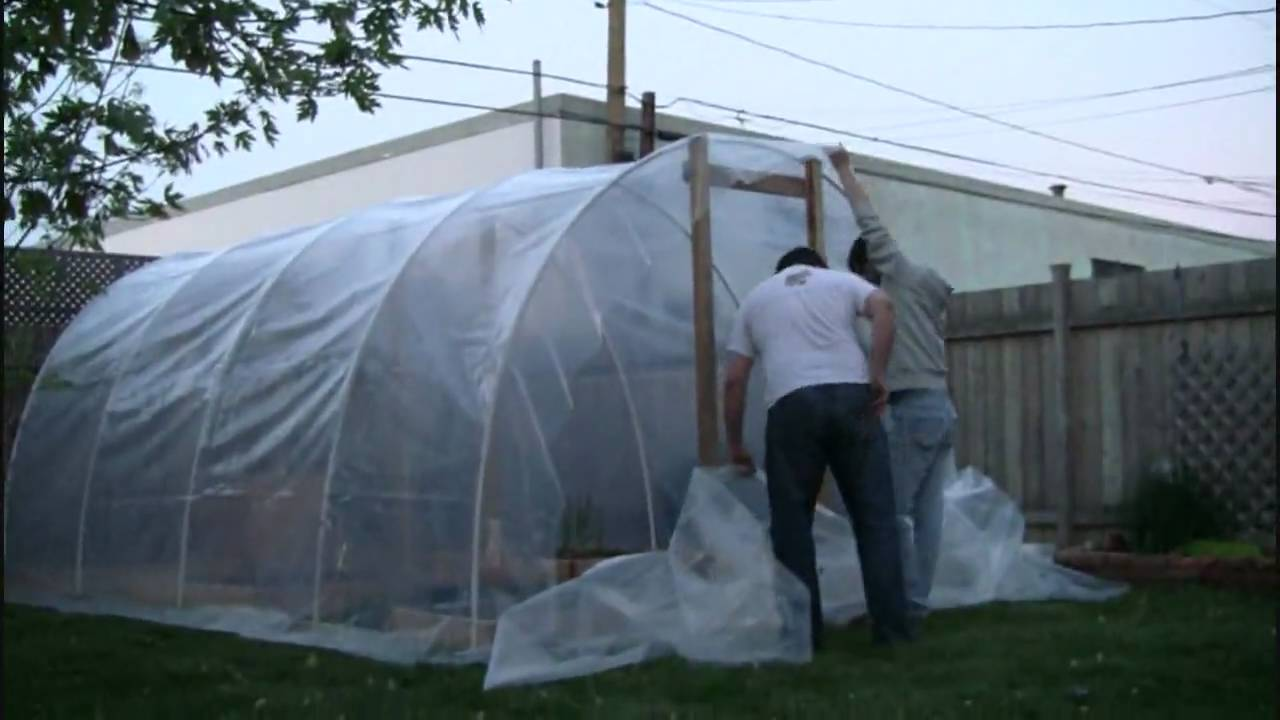 Part II Building our Backyard Greenhouse YouTube
