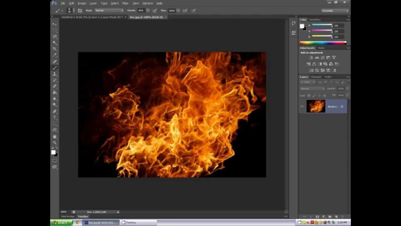 Photoshop CS6 tutorial: Fire letter