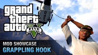 GTA 5 PC - Grappling Hook from Just Cause 2  [Mod Showcase]