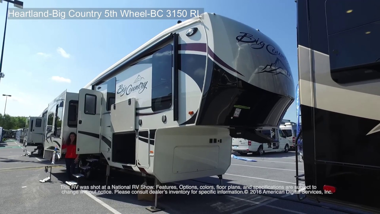 Heartland Big Country 5th Wheel BC 3150 RL - YouTube