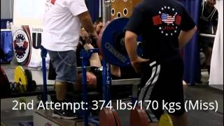Jamie Lewis - 1630 @ 181 lbs Raw (739 kgs @ 82.5)