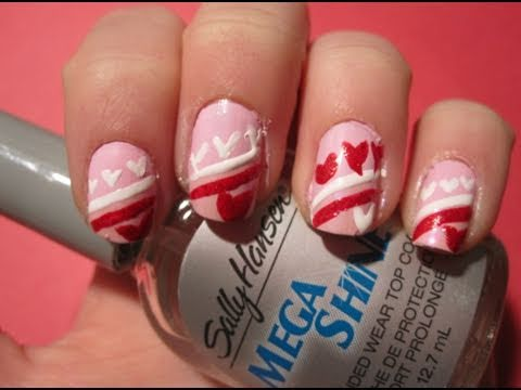 Tutorial: Valentine's Day Heart Nail Art