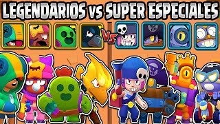LEGENDARY VS SUPER RARE | 4 VS 4 | BRAWL STARS | LEGENDARY vs SUPER RARE