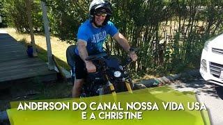 Anderson do canal nossa vida usa e a Christine