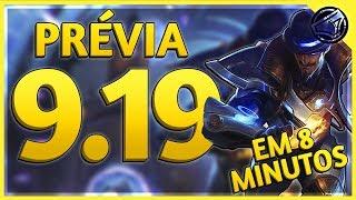 TWISTED FATE BOLADÃO!! PRÉVIA DA ATUALIZAÇÃO 9.19 no LEAGUE OF LEGENDS!!