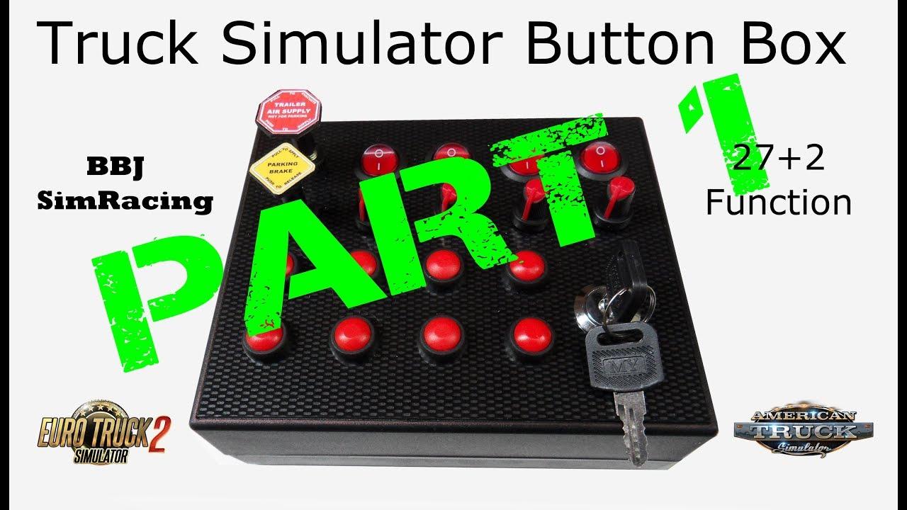 BBJ Sim Racing Truck Simuator 27 + 2 Function Button Box for
