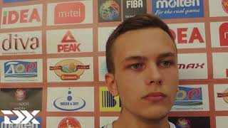 Kaspar Kitsing Full Interview U16 Eurpoean Championship A