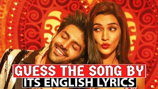 Guess The Song By Its English Lyrics- Bollywood Songs Challenge
