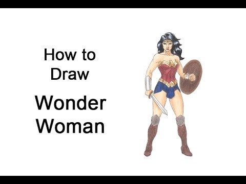 How To Draw Wonder Woman Full Body Youtube