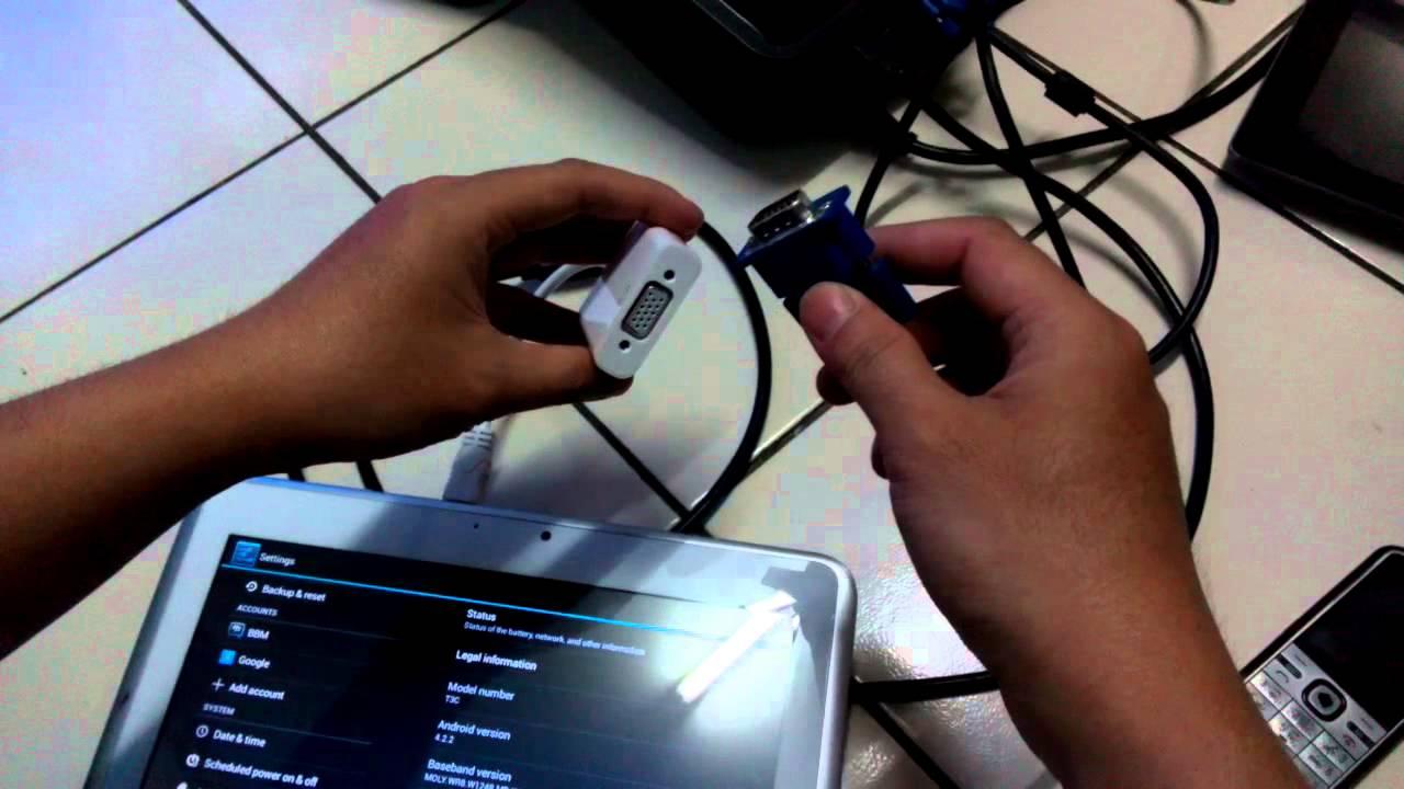 Cara menghubungkan Tab Advance T3C ke Projector Infokus dengan ...