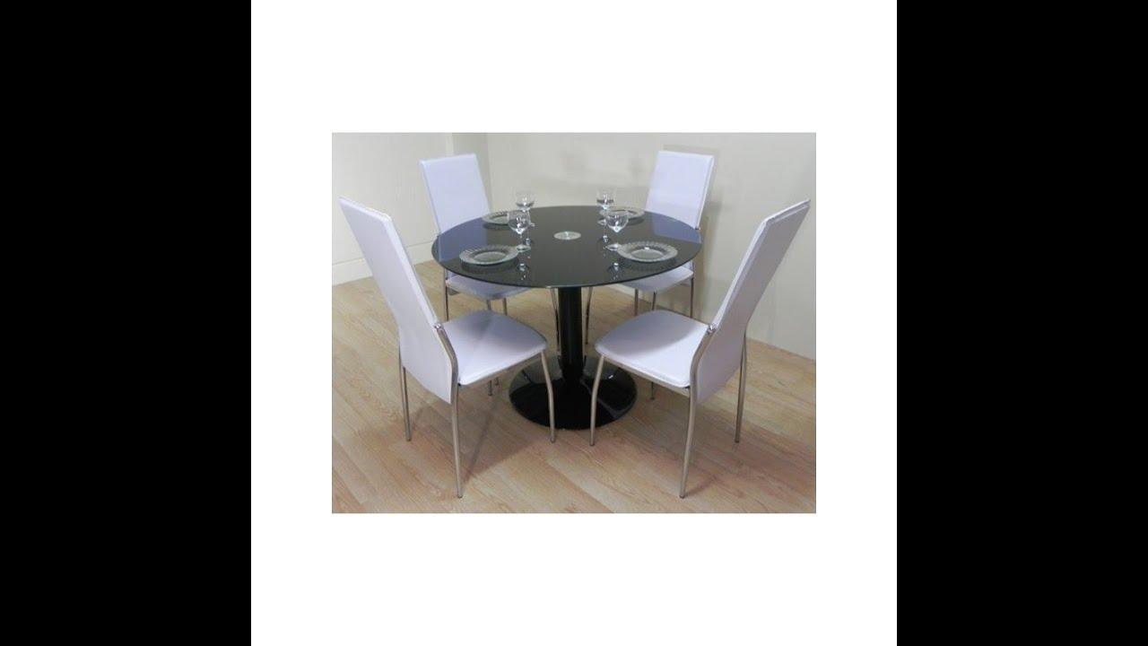Mesa negra silla blanca - YouTube