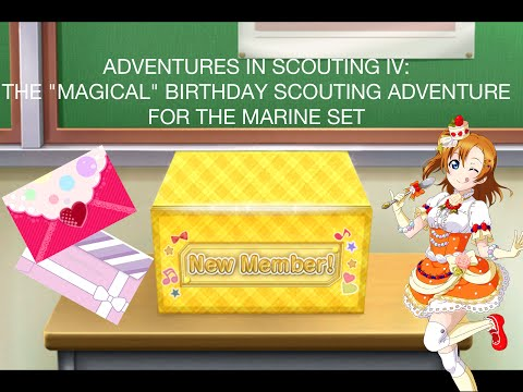 "Adventures in Scouting IV - The ""Magical"" Birthday Scouting Adventure for the Marine Set"