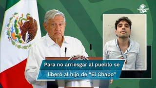 El presidente López Obrador dijo que tiene la conciencia tranquila respecto de la orden que dio para liberar a Ovidio Guzmán, el 17 de octubre de 2019 en Culiacán, Sinaloa