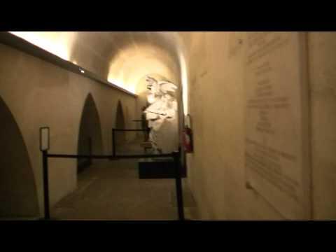 Inside the Arc de Triomphe in Paris