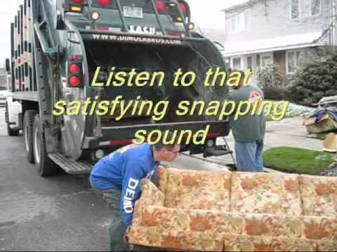 Nyc Sofa Disposal Professional Cleaners In Hyderabad Dimola Bros Mega Crushing Video From A Brooklyn Furniture