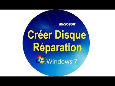 Creer Un Disque De Reparation Systeme Sur Windows 7 Youtube