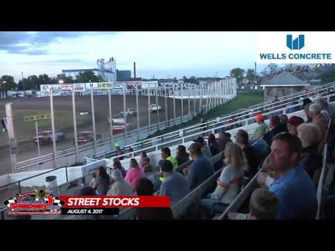 Wells Concrete Street Stock Highlights – August 4, 2017 – River Cities Speedway